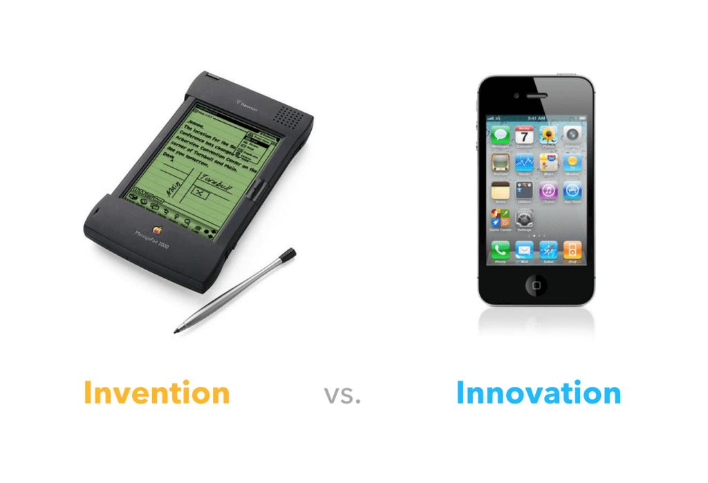 invención (PDA) vs innovación (iPhone)